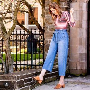 Anthropologie High Rise Wide Leg Crop Jeans - 2